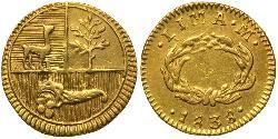 1/2 Escudo Peru Gold