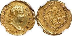 1/2 Escudo Vizekönigreich Peru (1542 - 1824) Gold Ferdinand VII. von Spanien (1784-1833)