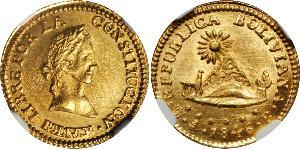 1/2 Escudo Bolivie Or