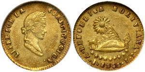 1/2 Escudo Bolivia Oro