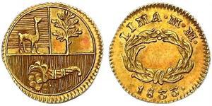 1/2 Escudo Perù Oro