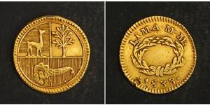 1/2 Escudo Perú Oro
