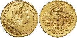 1/2 Escudo Reino de Portugal (1139-1910) Oro Juan V de Portugal (1689-1750)