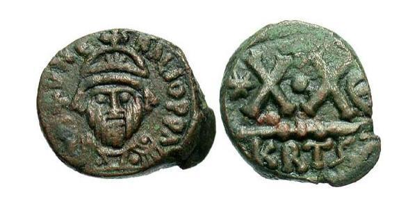 1/2 Follis 拜占庭帝国 青铜 Heraclius (575-641)