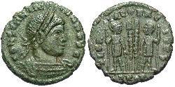 1/2 Follis 羅馬帝國 青铜 君士坦提烏斯二世