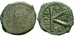 1/2 Follis Byzantine Empire (330-1453) Bronze Justin II (520-578)