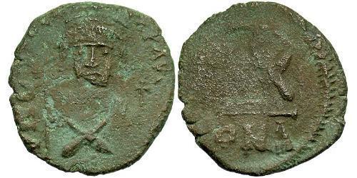 1/2 Follis Byzantine Empire (330-1453) Bronze Phocas(?-610)