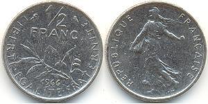 1/2 Franc 法蘭西第五共和國 镍