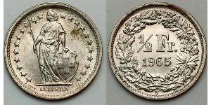1/2 Franc Switzerland Copper/Nickel