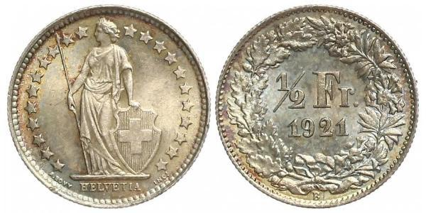 1/2 Franc Schweiz Kupfer/Nickel