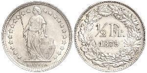 1/2 Franc Suiza Níquel/Cobre