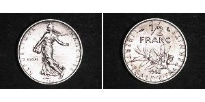 1/2 Franc Cinquième République (1958 - ) Nickel