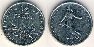 1/2 Franc French Fifth Republic (1958 - ) Nickel