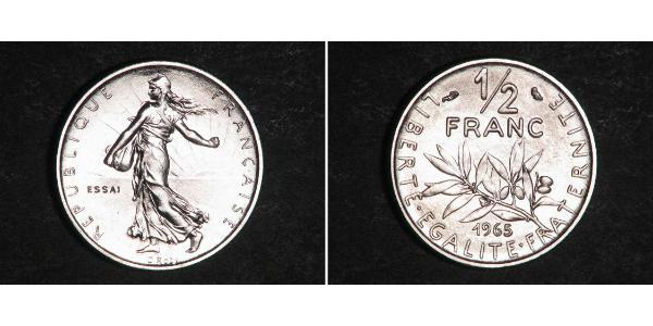 1/2 Franc French Fifth Republic (1958 - ) Nickel