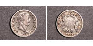1/2 Franc Primer Imperio francés (1804-1814) Plata Napoleón Bonaparte(1769 - 1821)