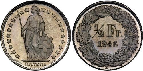 1/2 Franc Svizzera Rame/Nichel