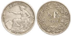 1/2 Franc Schweiz Silber