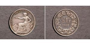 1/2 Franc Switzerland Silver