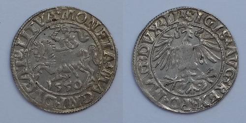 1/2 Groschen Grand-duché de Lituanie (1236 - 1791) Argent Sigismond II de Pologne (1548 - 1569)