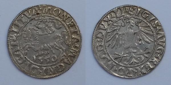 1/2 Groschen Großfürstentum Litauen (1236 - 1791) Silber Sigismund II. August (1548 - 1569)