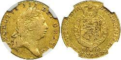 1/2 Guinea 大不列颠及爱尔兰联合王国 (1801 - 1922) 金 喬治三世 (1738-1820)