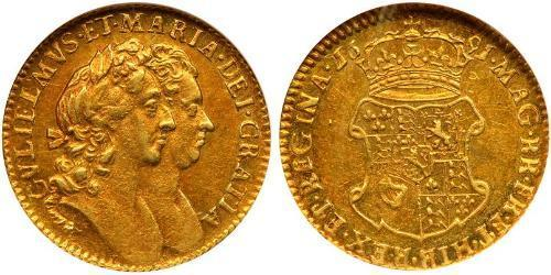 1/2 Guinea Kingdom of England (927-1649,1660-1707) Gold William III (1650-1702)