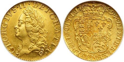 1/2 Guinea Royaume de Grande-Bretagne (1707-1801) Or George II (1683-1760)