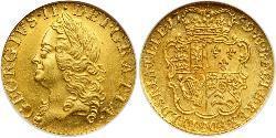 1/2 Guinea Regno Unito di Gran Bretagna (1707-1801) Oro Giorgio II (1683-1760)