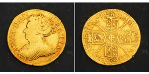 1/2 Guinea Regno Unito di Gran Bretagna (1707-1801) Oro Anna di Gran Bretagna(1665-1714)