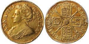 1/2 Guinea Reino de Gran Bretaña (1707-1801) Oro Ana de Gran Bretaña(1665-1714)