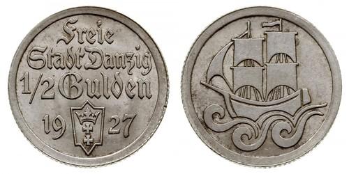 1/2 Gulden 但澤自由市 (1920 - 1939) 銀
