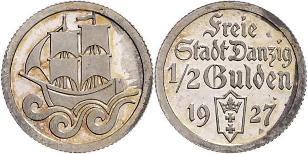 1/2 Gulden Gdansk (1920-1939) Argent