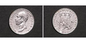 1/2 Gulden Royaume des Pays-Bas (1815 - ) Argent Guillaume II des Pays-Bas (1792 - 1849)