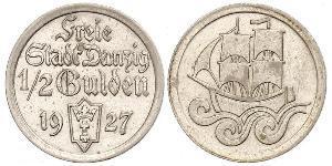1/2 Gulden Gdansk (1920-1939) Argento