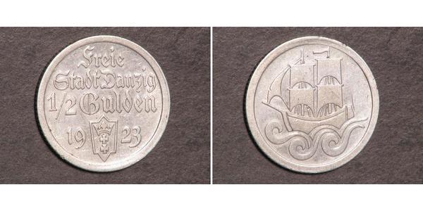 1/2 Gulden Gdansk (1920-1939) Plata