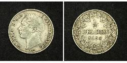 1/2 Gulden Königreich Württemberg (1806-1918) Silber Wilhelm I. (Württemberg)