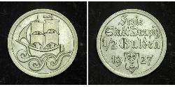 1/2 Gulden Gdansk (1920-1939) Silver