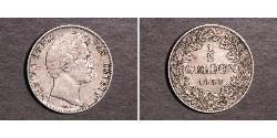 1/2 Gulden Kingdom of Bavaria (1806 - 1918) Silver Ludwig I of Bavaria (1786 – 1868)