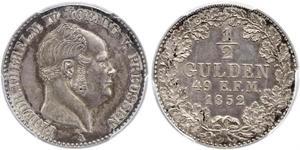 1/2 Gulden Kingdom of Prussia (1701-1918) Silver Frederick William IV of Prussia (1795 - 1861)