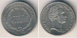1/2 Gulden  Silver