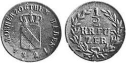 1/2 Kreuzer Grand Duchy of Baden (1806-1918) Copper
