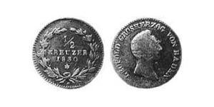 1/2 Kreuzer Grand Duchy of Baden (1806-1918) Copper Leopold, Grand Duke of Baden (1790 – 1852)