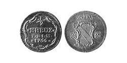 1/2 Kreuzer Margrave of Baden-Durlach (1535 - 1771) Copper