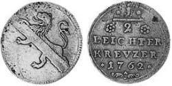 1/2 Kreuzer Prince-Bishopric of Bamberg (1245–1802) Copper