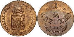 1/2 Kreuzer Impero austriaco (1804-1867)  Francis II, Holy Roman Emperor (1768 - 1835)