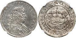 1/2 Krone Dinamarca Plata Federico III de Dinamarca (1609 -1670)