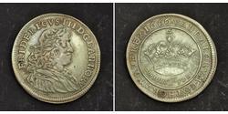 1/2 Krone Dänemark Silber