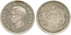 1/2 Krone Neuseeland Silber Georg VI (1895-1952)