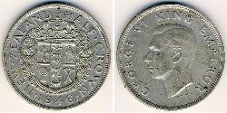 1/2 Krone New Zealand Silver