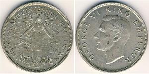 1/2 Krone New Zealand Silver George VI (1895-1952)